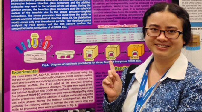 ธนิดา เจริญสุข : นักศึกษา ป.เอก สังเคราะห์วัสดุแก้วชีวภาพมุ่งเน้นการรักษาโรคมะเร็งกระดูก