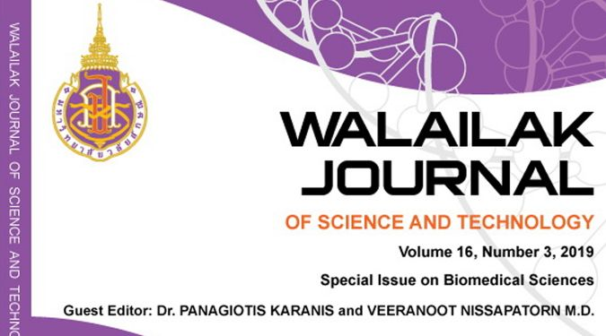 Walailak J Sci & Tech publishes 8 selected articles from ICBMS 2018