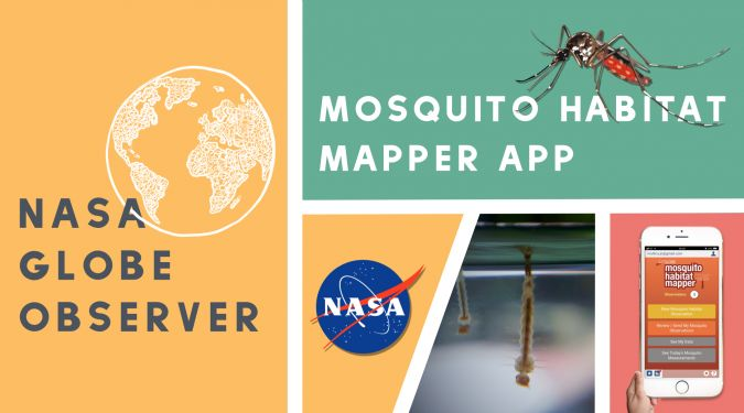 NASA GLOBE Observer App ‒ Mosquito Habitat Mapper App for help dengue and Zika prevention and control
