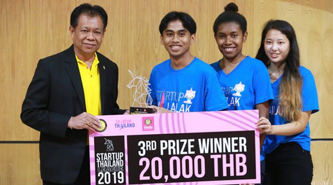WUIC Team won 3rd prize at the Startup Thailand League 2019 (South Region)