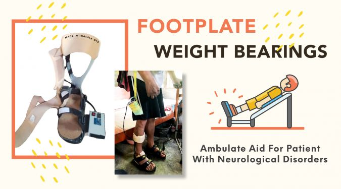 Foot Plate Weight Bearing – Ambulate aid for patient with neurological disorders