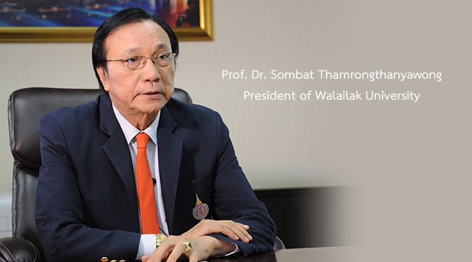 President of Walailak University expresses his deep sympathies to Chinese people for coronavirus outbreak