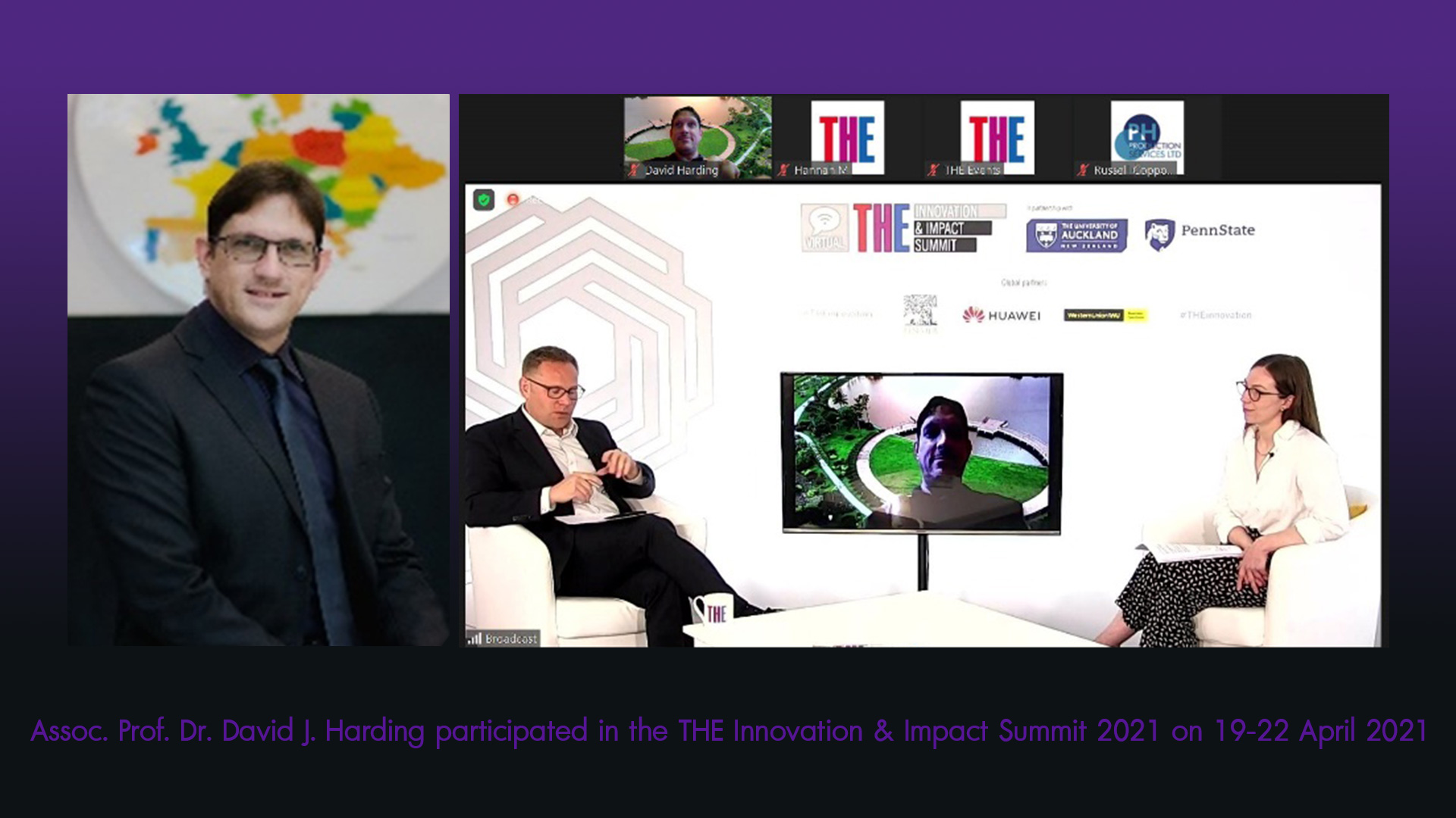 Assoc. Prof. Dr. David J. Harding participated in the THE Innovation & Impact Summit 2021 on 19-22 April 2021