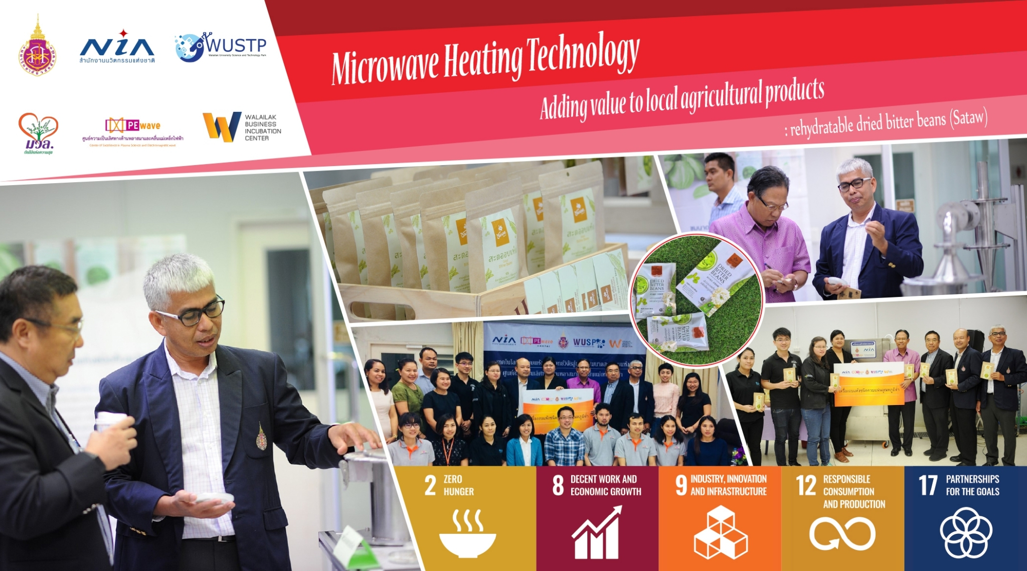Microwave Heating Technology  Adding value to local agricultural products : rehydratable dried bitter beans (Sataw)