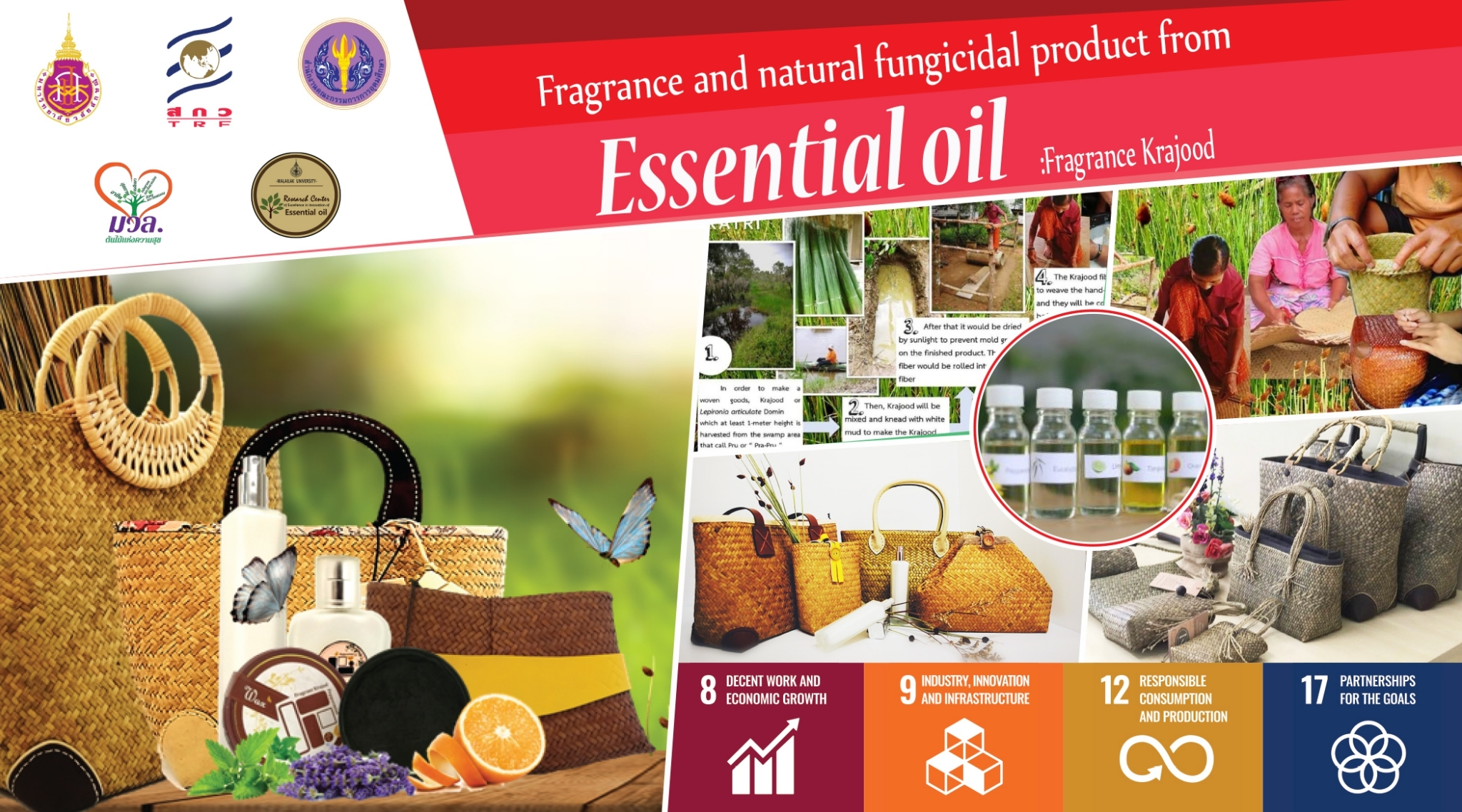 Fragrance and natural fungicidal product from Essential oil :Fragrance Krajood